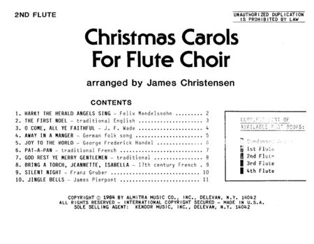 Christmas Carols For Flute Choir/Cond Score - Flute 2
