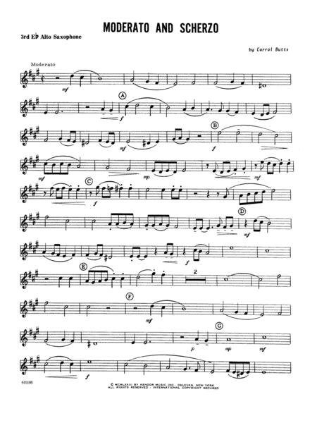 Moderato And Scherzo - Alto Sax 3