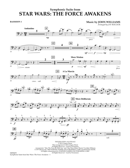 Symphonic Suite from Star Wars: The Force Awakens - Bassoon 1