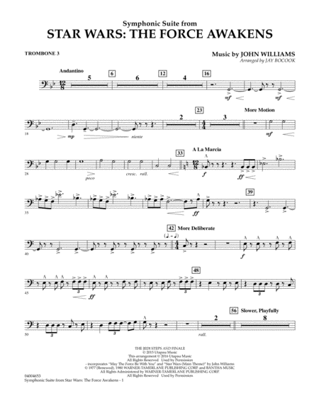 Symphonic Suite from Star Wars: The Force Awakens - Trombone 3