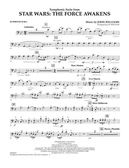 Symphonic Suite from Star Wars: The Force Awakens - Euphonium B.C.
