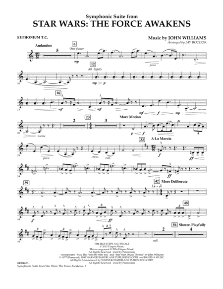 Symphonic Suite from Star Wars: The Force Awakens - Euphonium T.C.