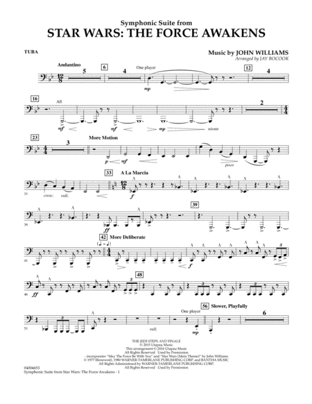 Symphonic Suite from Star Wars: The Force Awakens - Tuba
