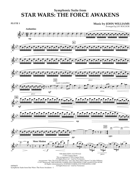 Symphonic Suite from Star Wars: The Force Awakens - Flute 1