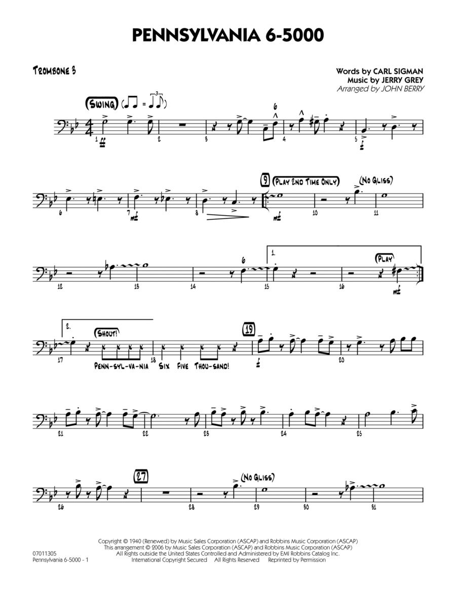 Pennsylvania 6-5000 - Trombone 3