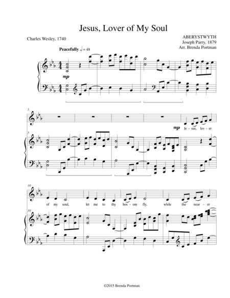 Jesus, Lover of My Soul (ABERYSTWYTH), Low Voice, arr. Brenda Portman