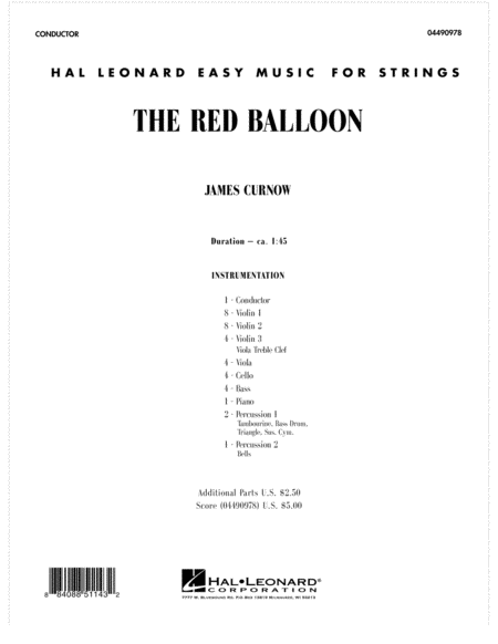 The Red Balloon - Full Score
