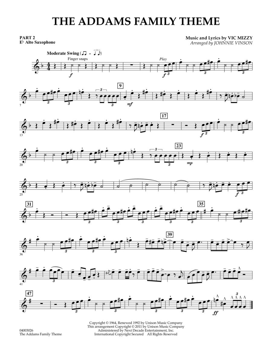 The Addams Family Theme - Pt.2 - Eb Alto Saxophone