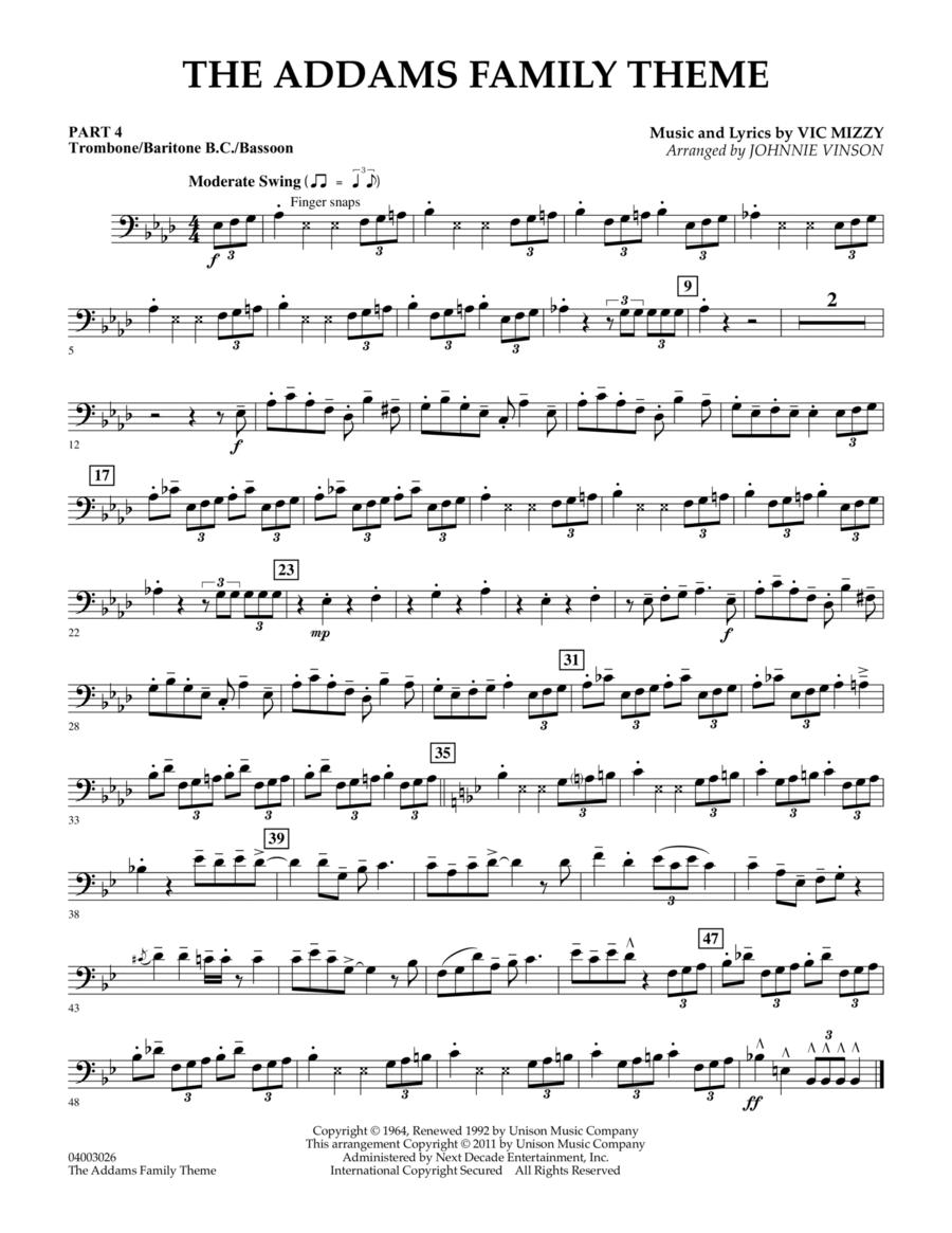 The Addams Family Theme - Pt.4 - Trombone/Bar. B.C./Bsn.