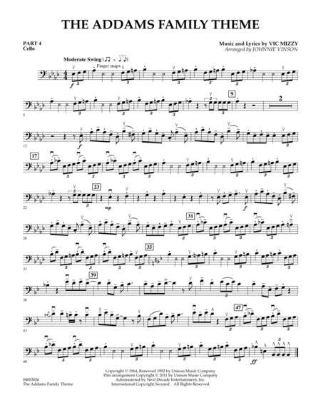 The Addams Family Theme - Pt.4 - Cello