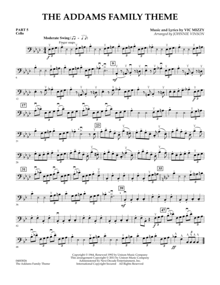 The Addams Family Theme - Pt.5 - Cello