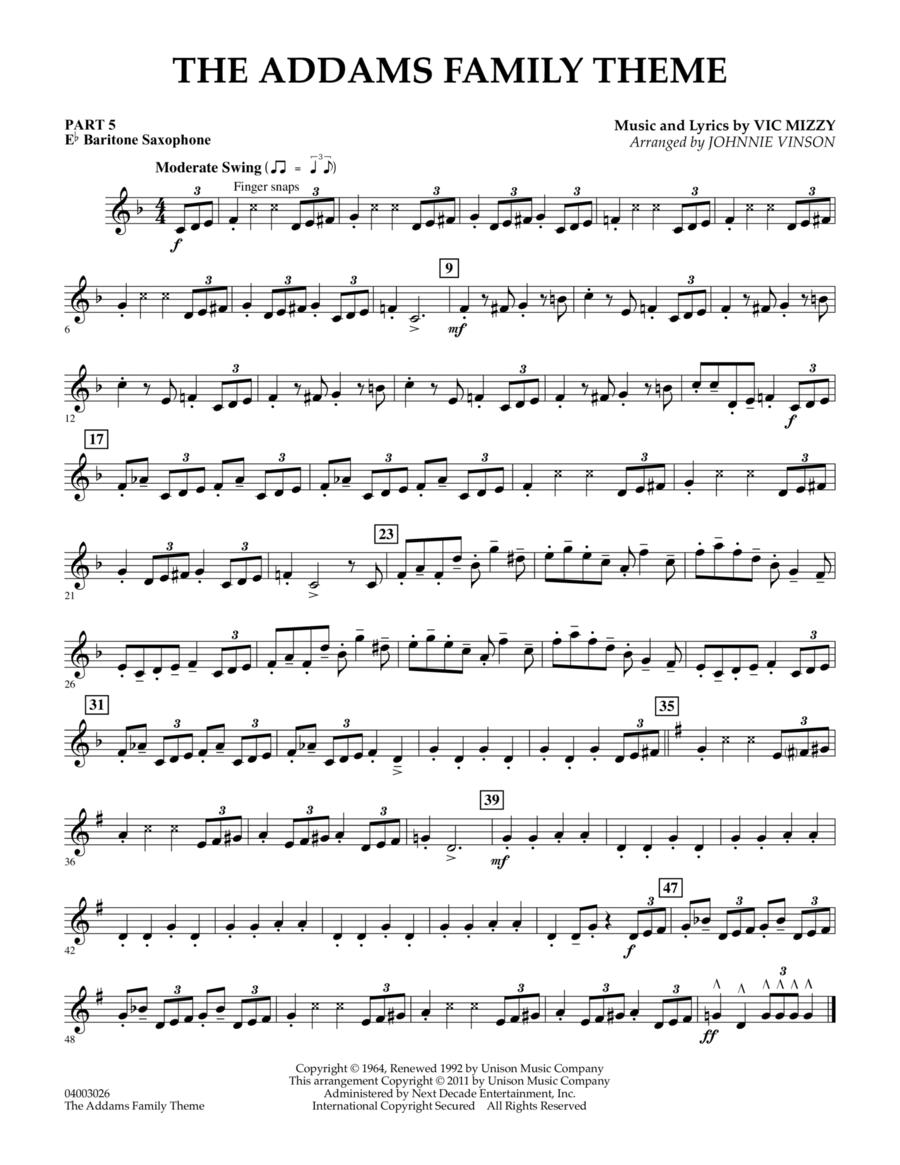 The Addams Family Theme - Pt.5 - Eb Baritone Saxophone