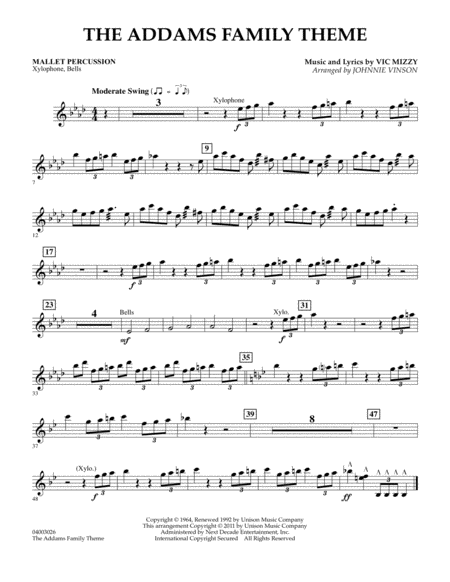 The Addams Family Theme - Mallet Percussion