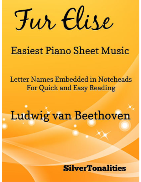 Fur Elise Easiest Piano Sheet Music