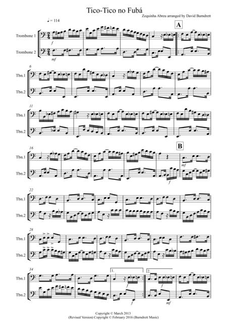 Tico Tico for Trombone Duet