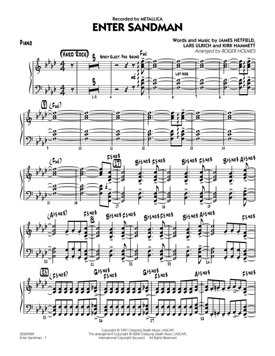 Enter Sandman - Piano