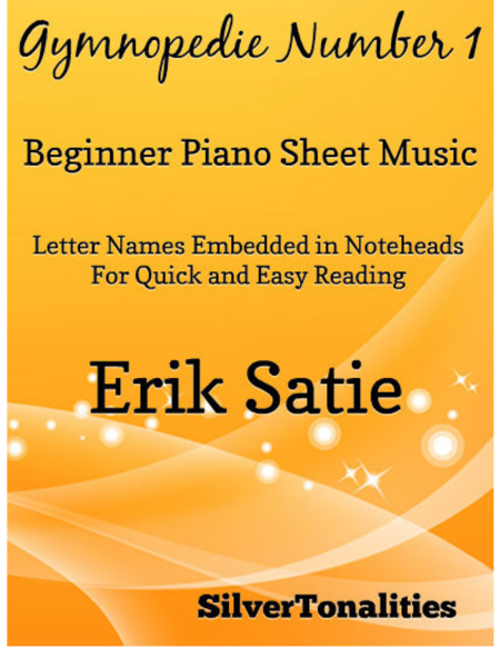 Gymnopedie Number 1 Beginner Piano Sheet Music