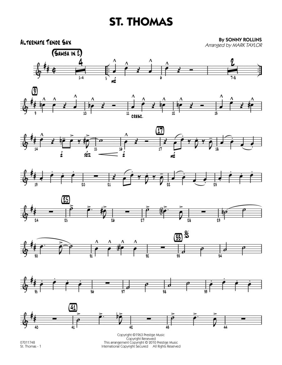 St. Thomas - Alternate Tenor Sax