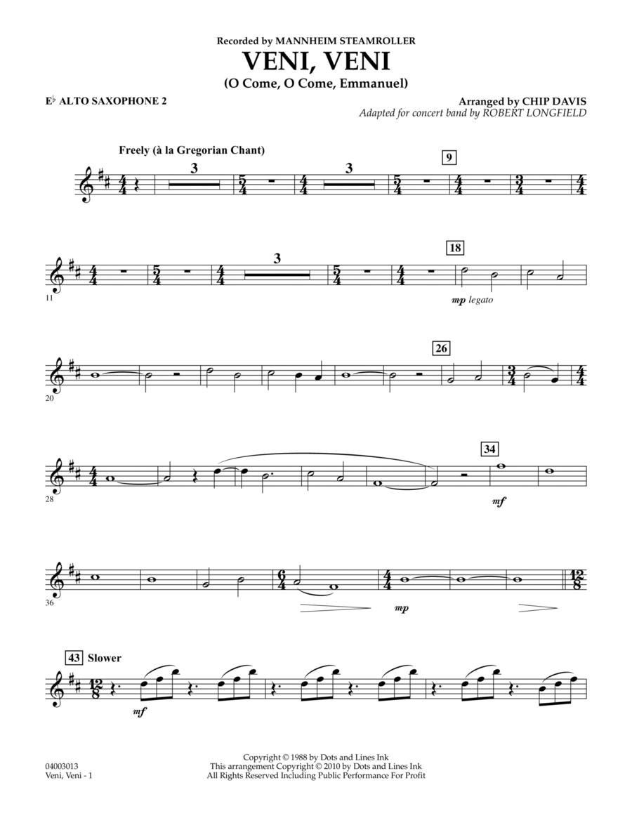 Veni, Veni (O Come, O Come Emmanuel) - Eb Alto Saxophone 2