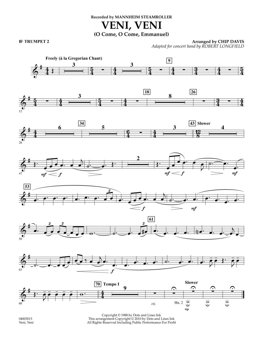 Veni, Veni (O Come, O Come Emmanuel) - Bb Trumpet 2