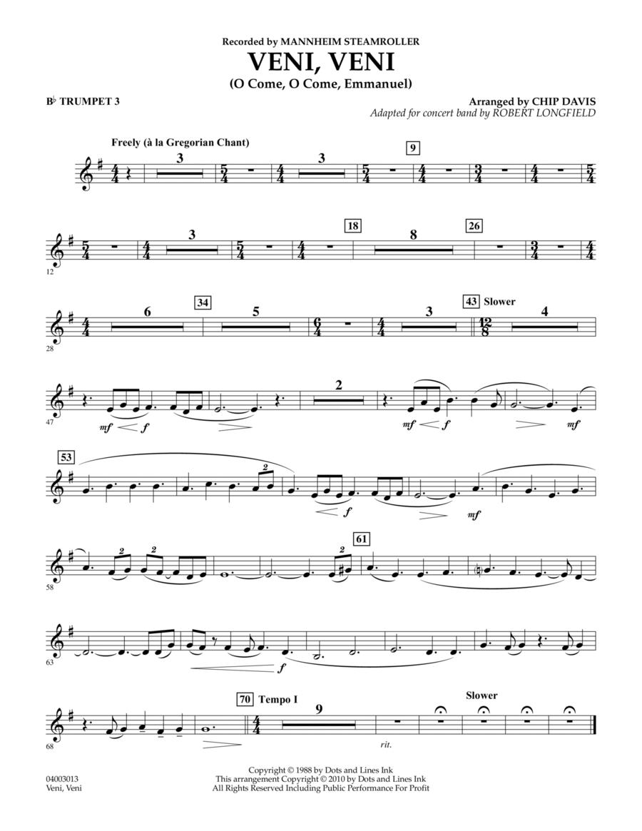 Veni, Veni (O Come, O Come Emmanuel) - Bb Trumpet 3