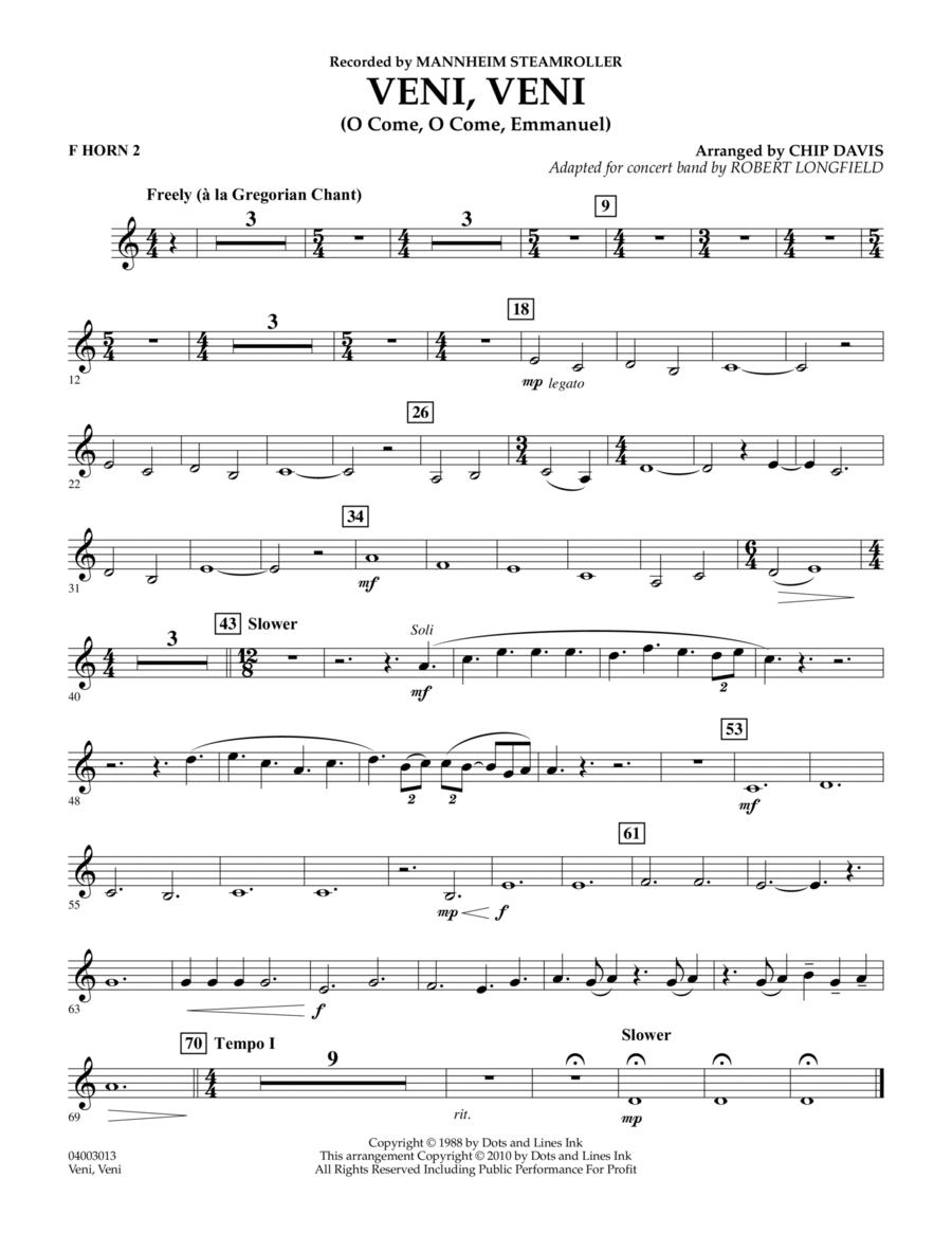 Veni, Veni (O Come, O Come Emmanuel) - F Horn 2