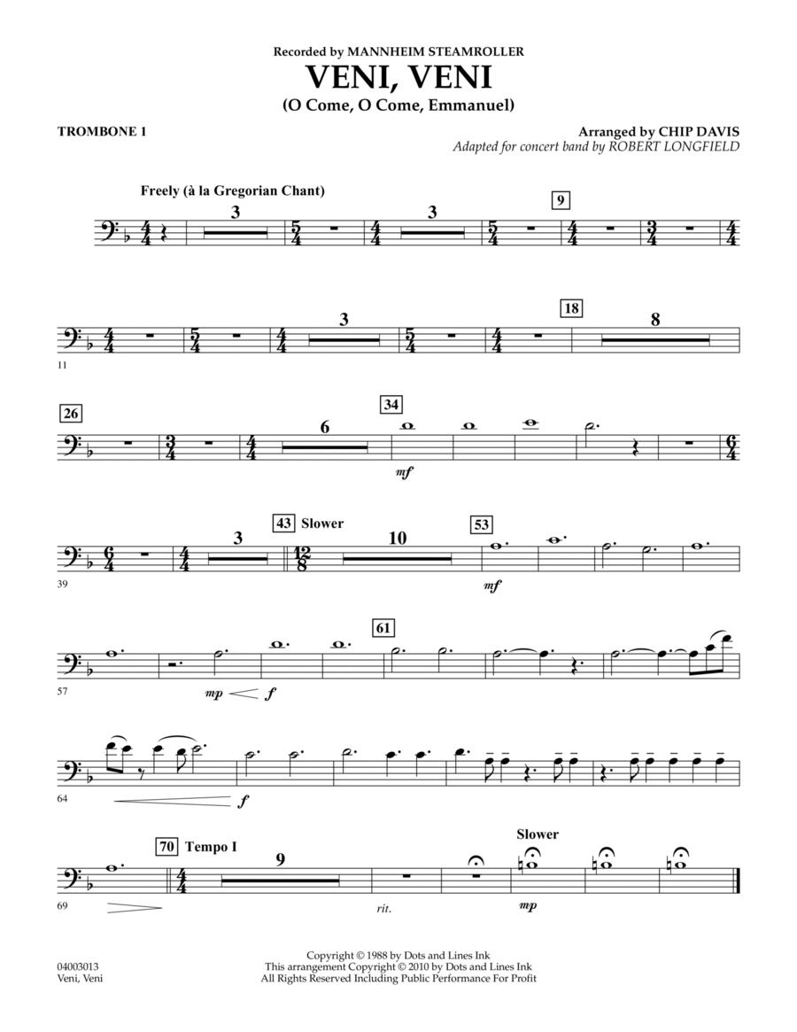 Veni, Veni (O Come, O Come Emmanuel) - Trombone 1