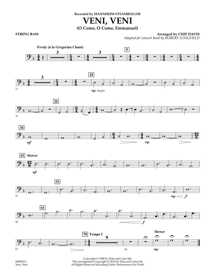Veni, Veni (O Come, O Come Emmanuel) - String Bass