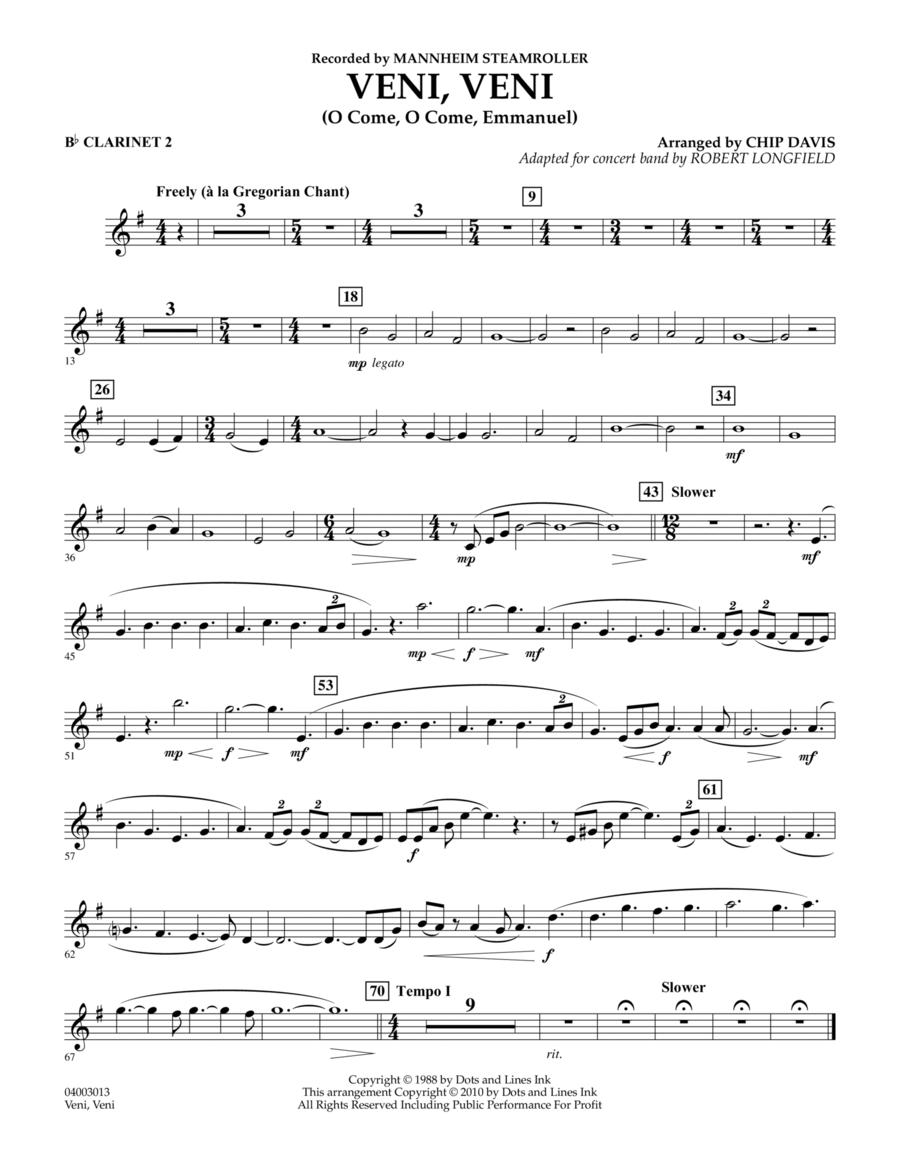 Veni, Veni (O Come, O Come Emmanuel) - Bb Clarinet 2
