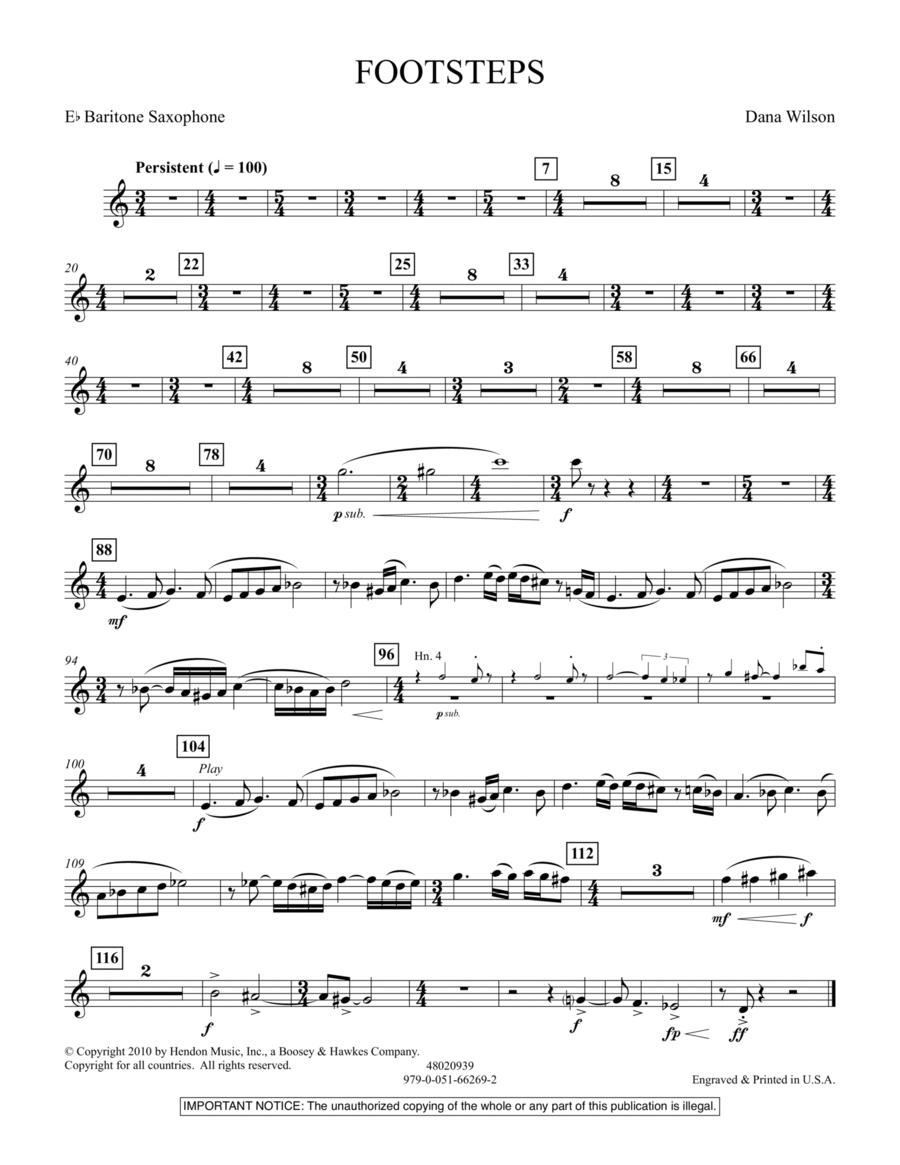 Footsteps - Eb Baritone Saxophone