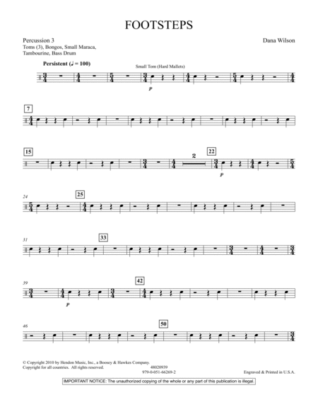 Footsteps - Percussion 3