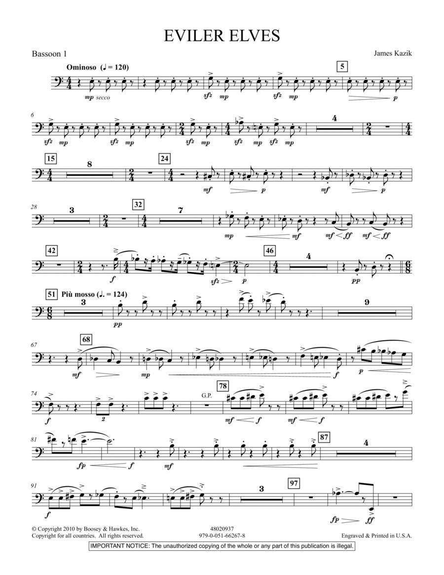 Eviler Elves - Bassoon 1