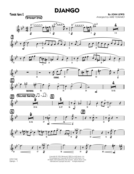 Django - Tenor Sax 2