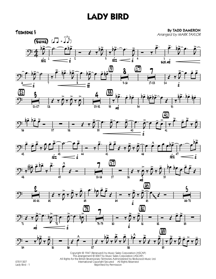 Lady Bird - Trombone 3