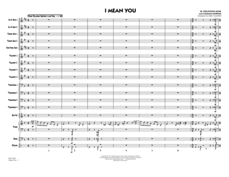 I Mean You - Full Score