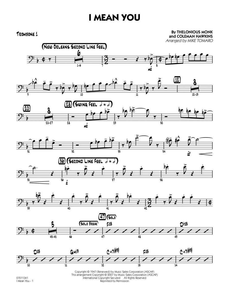 I Mean You - Trombone 1