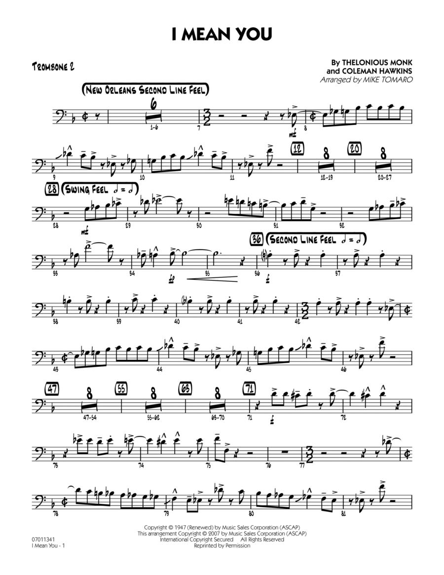 I Mean You - Trombone 2