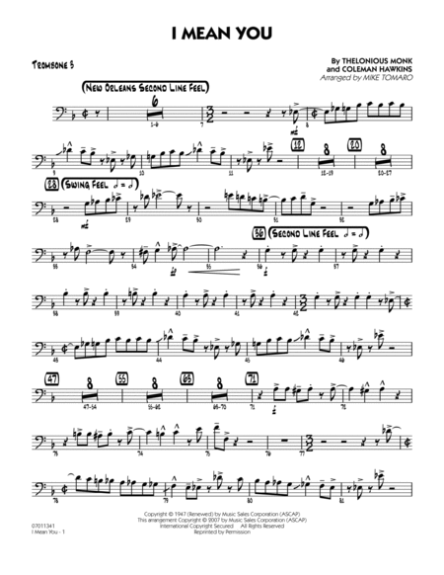 I Mean You - Trombone 3