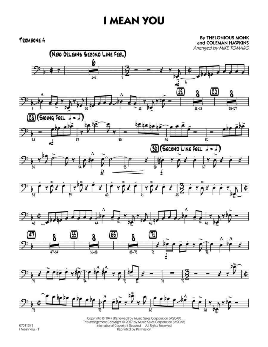 I Mean You - Trombone 4