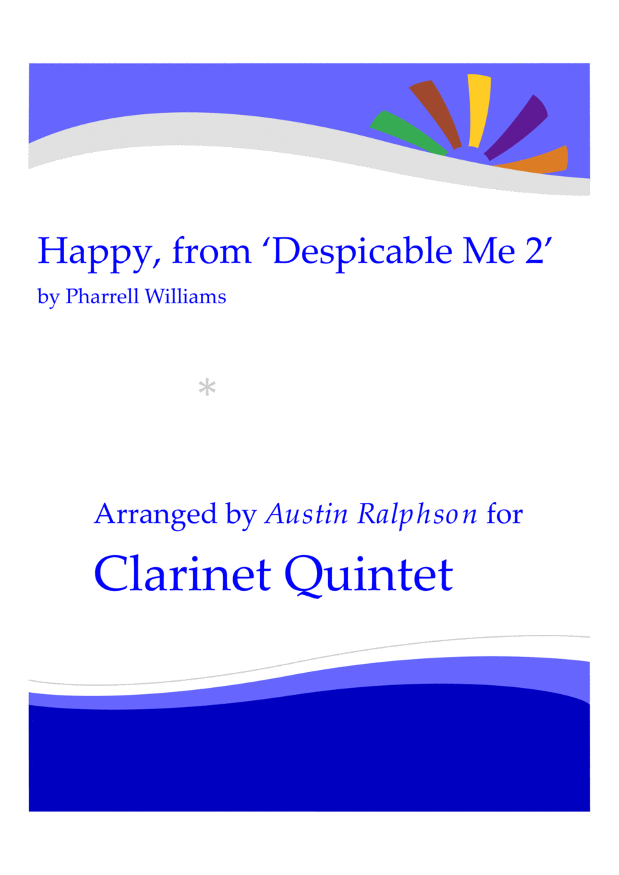 Happy, from 'Despicable Me 2' - clarinet quintet