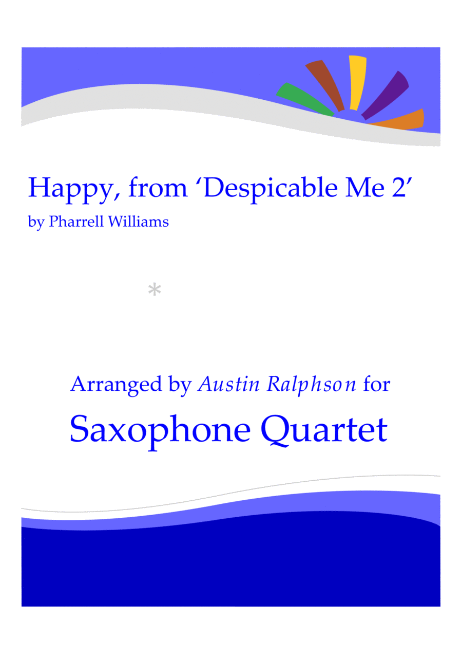 Happy, from 'Despicable Me 2' - sax quartet