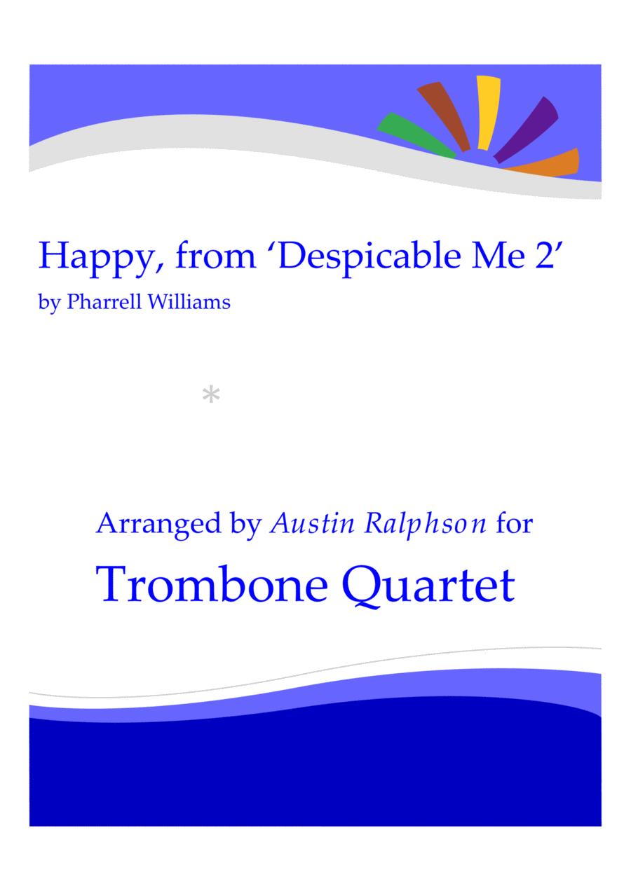 Happy, from 'Despicable Me 2' - trombone quartet