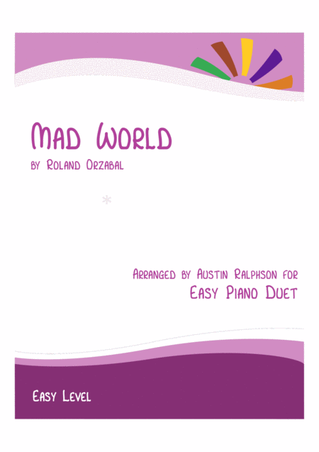 Mad World - easy piano duet
