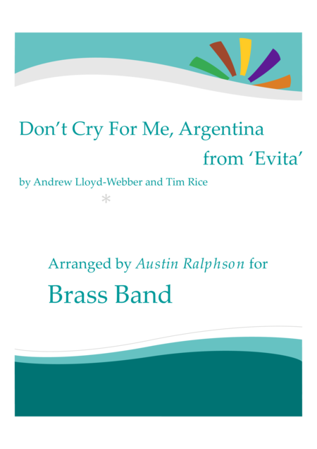 Don't Cry For Me, Argentina - brass band