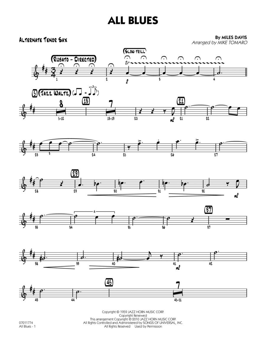 All Blues - Alternate Tenor Sax