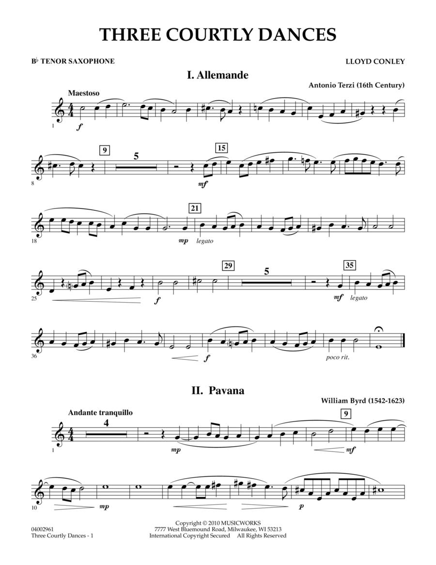 Three Courtly Dances - Bb Tenor Saxophone