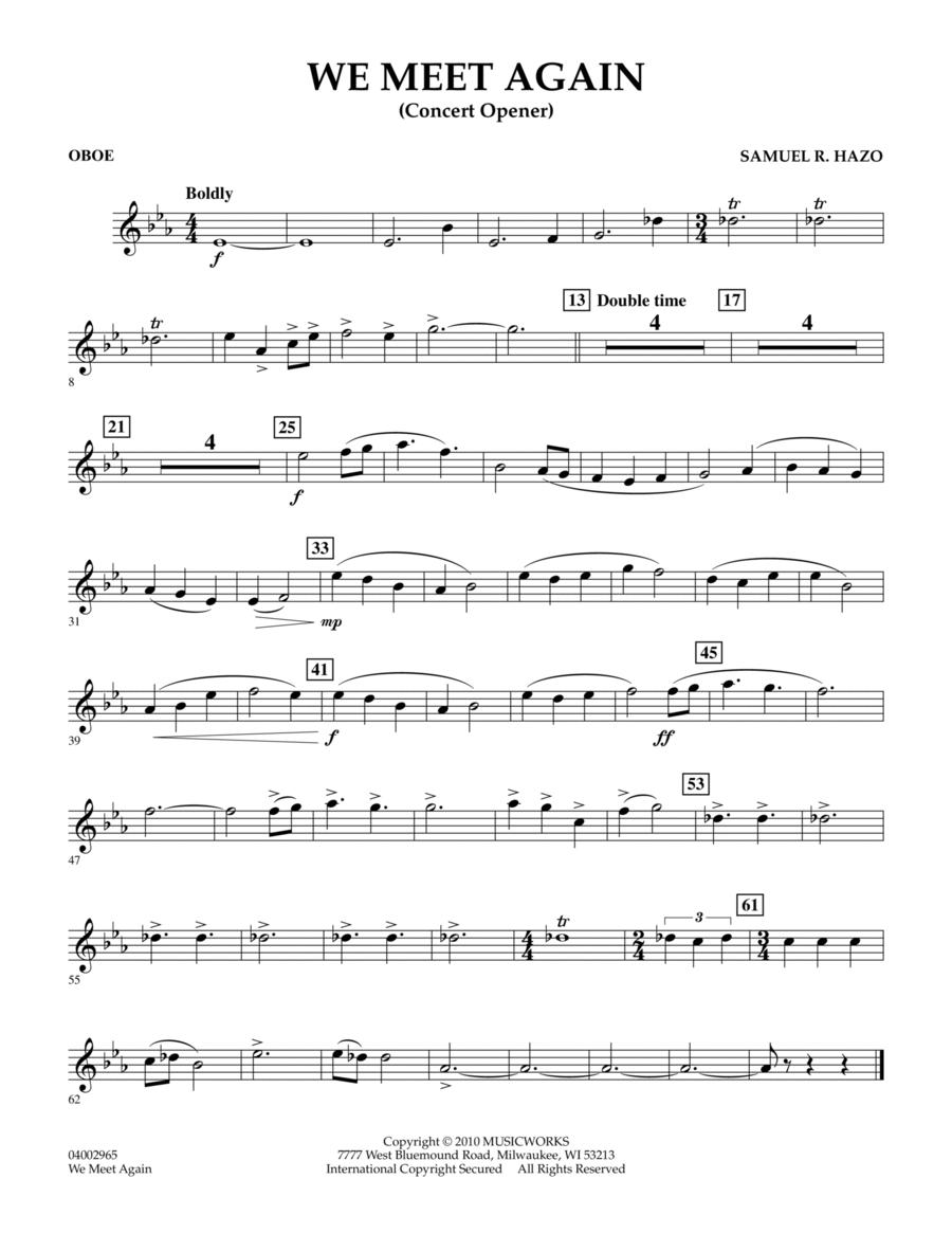 We Meet Again - Oboe