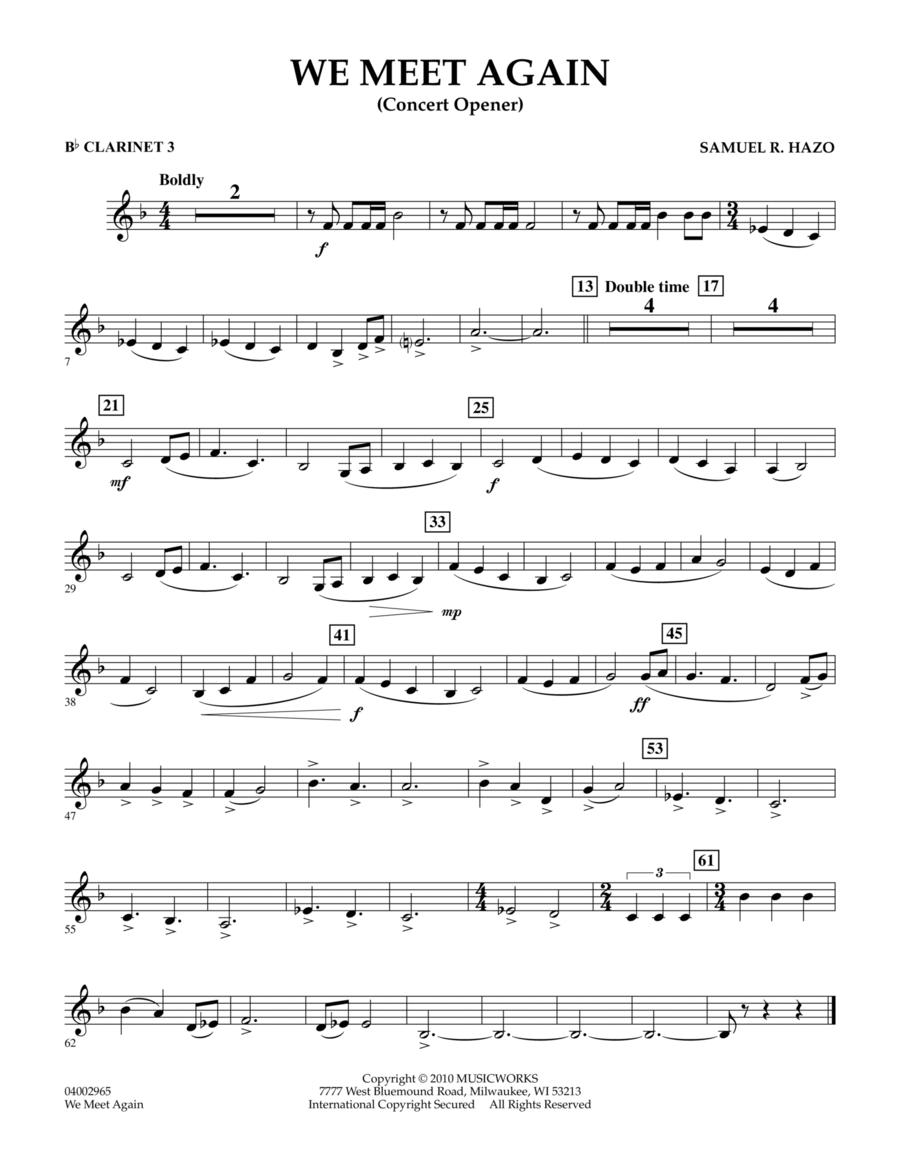 We Meet Again - Eb Alto Clarinet
