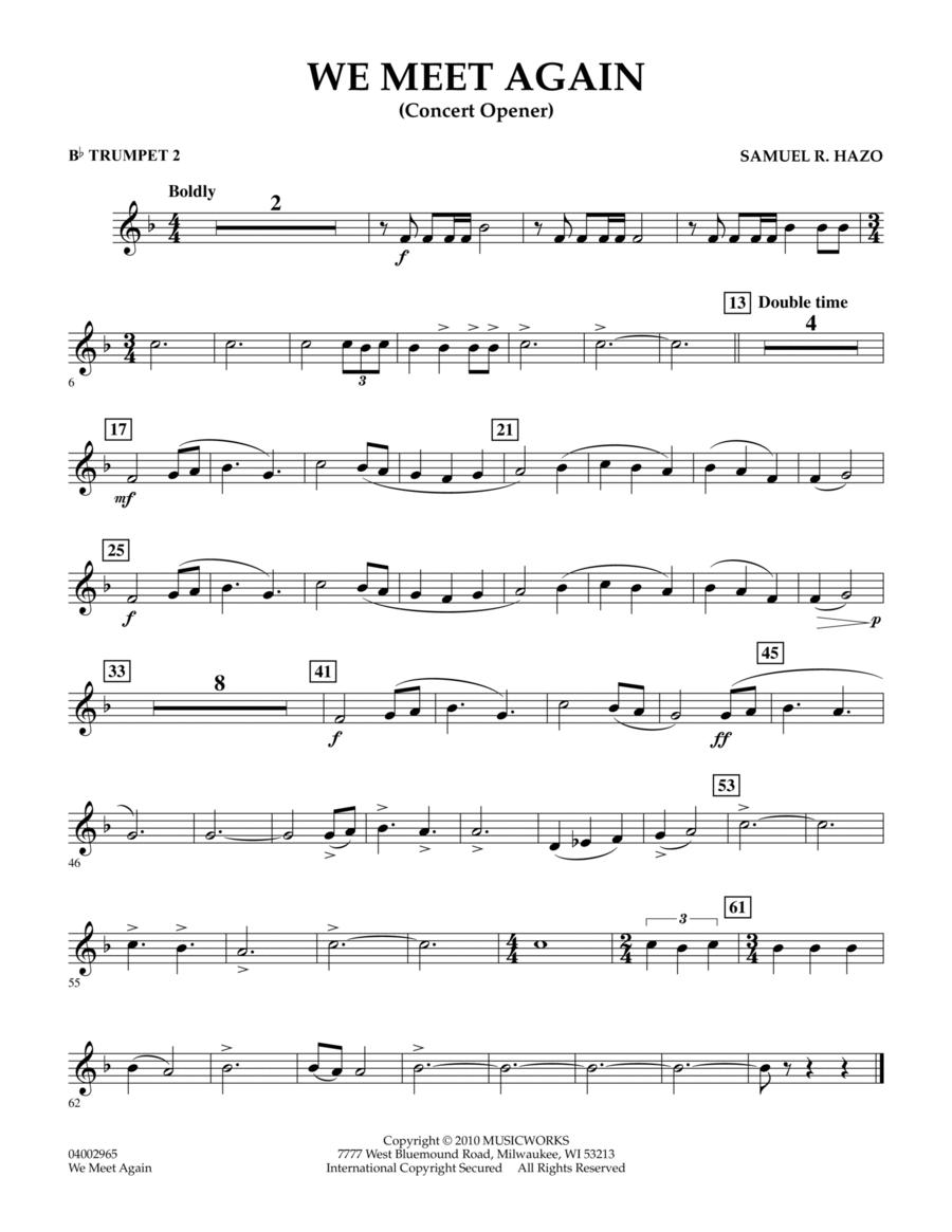 We Meet Again - Bb Trumpet 2
