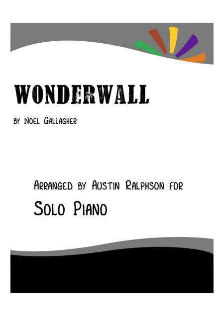 Wonderwall - piano solo